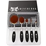 Neverland Oval Make-up Pinsel Set, 5PC / Set Zahnbürste Stil Augenbrauen Pinsel
