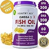 Healthyhey Nutrition Fish Oil - Omega 3 Mercury Free (1000 Mg) Burpless