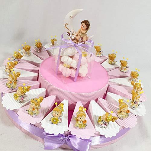 Sindy Bomboniere 8054382130Torte Gastgeschenk Ballerina auf Kissen, Harz Glanz, Pink, 4x 3x 4.5cm -