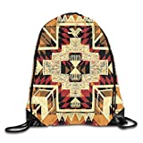 Sporttaschen Turnbeutel, Drawstring Bags Arrow Native American Retro Aztec Pattern Unisex Gym...