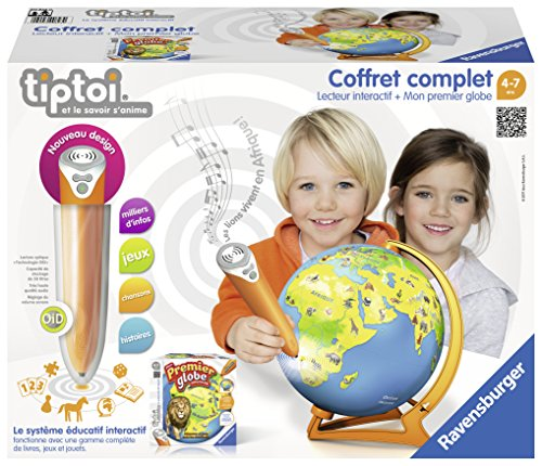 Ravensburger - 00823 - Coffret Lecteur + Mon Premier Globe Tiptoi
