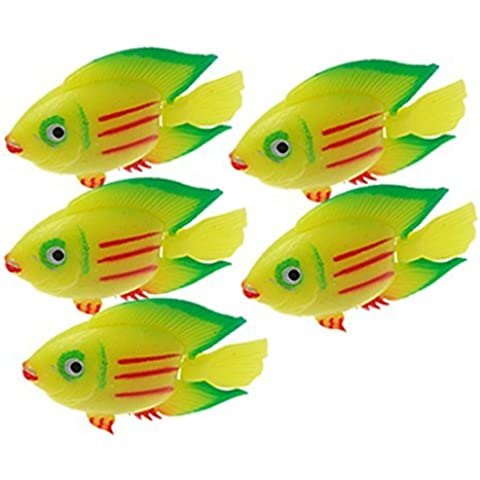 Water & Wood Plastic Aquarium Mini Fish Water Tank Decor Ornament
