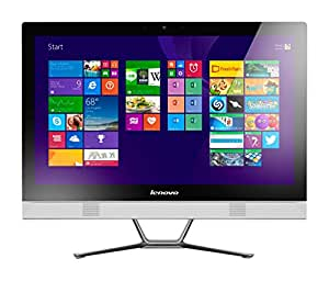 lenovo c50 30 ordinateur de bureau tout en un fhd 23 blanc intel core i3 4 go de ram disque. Black Bedroom Furniture Sets. Home Design Ideas