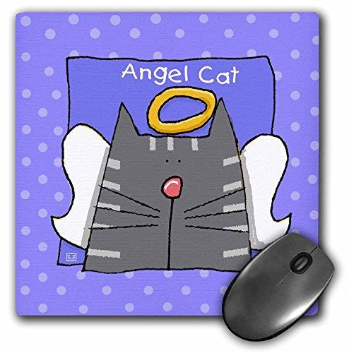 3drose Engel grau gestromt Katze Cute Cartoon Pet Verlust Memorial-Maus Pad, 8von 20,3cm (MP 36661_ 1) -