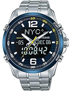 Pulsar Reloj Analógico Unisex con Correa de Chapado En Acero Inoxidable - PZ4003X1 (B01KM08JWI) | Amazon price tracker / tracking, Amazon price history charts, Amazon price watches, Amazon price drop alerts