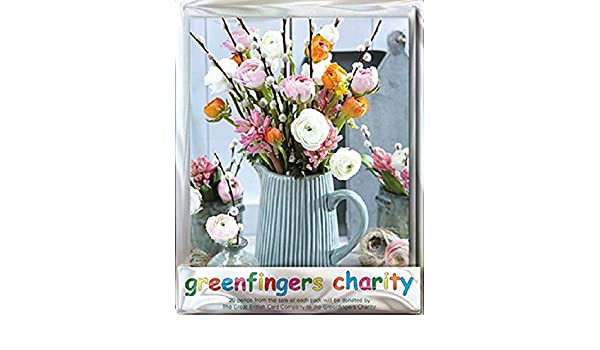 Paper House Pack of 4 Bunch of Snowdrops Greenfingers Blank Charity Greeting Cards Smalll Notelets GFNG0006