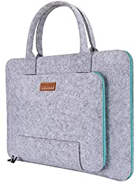 Ropch 17-17.3 Inch Laptop Sleeve Bag Notebook Computer Case Ultrabook Tablet Briefcase Messenger Carrying Bag Pouch Skin Cover, Grey & Light Blue