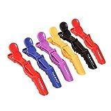 6pcs Chytaii Pinzas Clips Horquillas de Pelo Artículo de Peluquería Profesional de Plástico Herramientas de Peluquería Colores Aleatorios