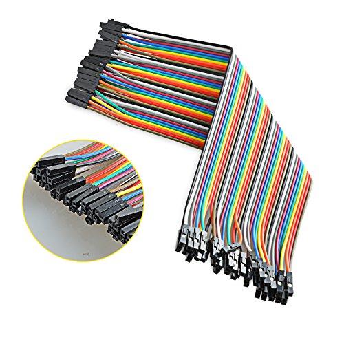 Neuftech 40x 20cm female female Jumper Wire Kabel Drahtbrücken für Breadboard Arduino Raspberry Pi -