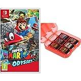 Super Mario Odyssey + Funda para almacenamiento de juegos (Rojo) AmazonBasics