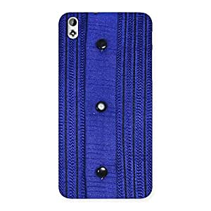 Stylish Royal Blue Sweat Print Back Case Cover for HTC Desire 816