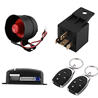 BigBig Style 1-Wege-Auto-Einbruchalarm, schlüsselloses Zugangssystem und 2 Fernbedienung