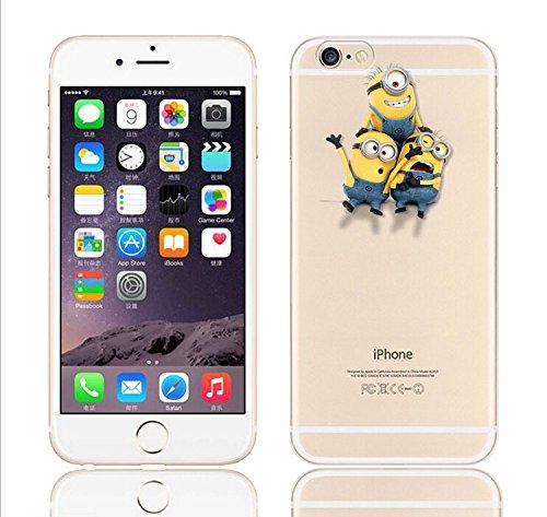 Coque iPhone 6s / Minions couvercle de gel de bande dessinée pour Apple iPhone 6s 6 / protecteur d'écran et écran chiffon par iCHOOSE / lavage Grimpez au sommet