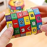 Gaddrt Spielzeug Würfel Kinder Kinder Mathematik Zahlen Zauberwürfel Spielzeug Puzzle Spiel Geschenk 6*9cm
