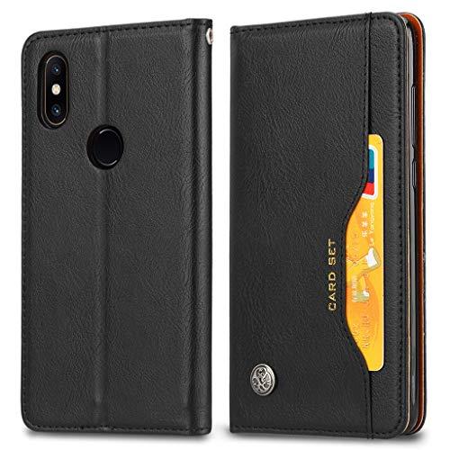 EabHulie Funda Xiaomi Mi Mix 2S, Carcasa Libro de Cuero con Tapa Billetera Cartera Ranuras para Tarjetas con Función de Soporte para Xiaomi Mi Mix 2S Negro