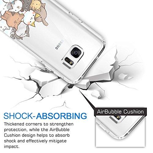 Samsung Galaxy S7 Coque Pacyer® case Housse Étui Cuir Cover Couverture Fonction Support avec Fermeture Aimantée de Feuille Motif Bumper pour S7 Chat 3