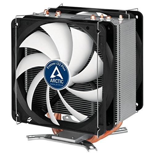 ARCTIC Freezer i32 Plus - Semi-passiver Intel CPU Kühler mit Push-Pull Konfiguration 120 mm PWM Lüfter für mehr Kühlkapazität Extrem leise