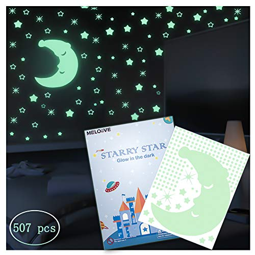 Meloive Pegatinas Estrellas Pared Que Brillan Oscuridad,507