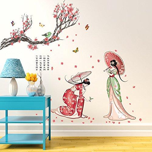 Chinesische Klassische Schönheit Wandaufkleber Schönheitssalon Gesundheit Museum Kostüme Damen Figur Tapete Wohnzimmer Hintergrund Aufkleber 60 * 90 Cm