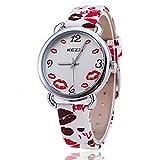 bysor (TM) Kezzi reloj k-1116marca labios reloj mujer reloj de pulsera reloj de cuarzo Relogio Feminino Casual relojes de lujo
