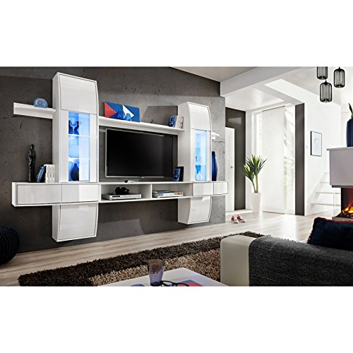 Ensemble TV - Blanc mat - 2 portes