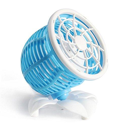 Mini ventilatore doppio del motore USB Piccolo ventilatore mini ventilatori portatile dormitorio scrivania per il comodino , 2