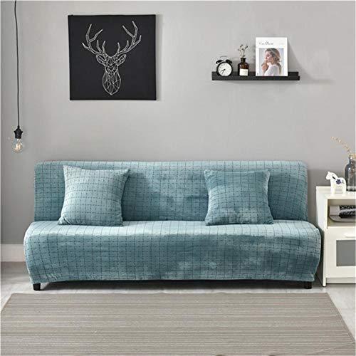 heling896 Thick Armless Schlafsofa Abdeckung, 3 Sitzer Full Folding Couch Sofa Schild Möbel Protector Plaid Sofabettabdeckung Keine Armlehne große Sofa Staubschutz