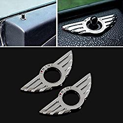 9 MOON Car Metal Door Lock decoration ring for BMW Mini Cooper Auto Accessories
