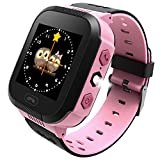 Edited Kinder Smart Watch Armbanduhr | Touchscreen, Live GPS, Telefon, Spiele, Wecker, SOS Notruf usw. | Geschenke für Mädchen Jungen Kinder (Pink 2)