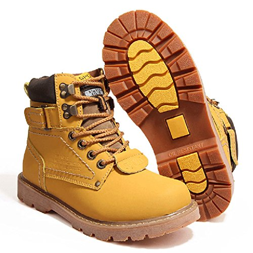 Bottes En Peluche De Haute Qualité De Martin Bottes Plus Hiver Hommes Anti-dérapant Pardessus Extérieur Chaussures 38-44 Jaune