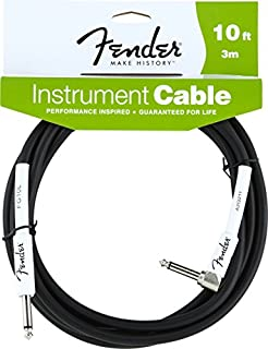 Fender Instrument Lead 10 Foot /3 M 1/4 Jack to 1/4 Angled Jack (B005XOE7OI) | Amazon price tracker / tracking, Amazon price history charts, Amazon price watches, Amazon price drop alerts