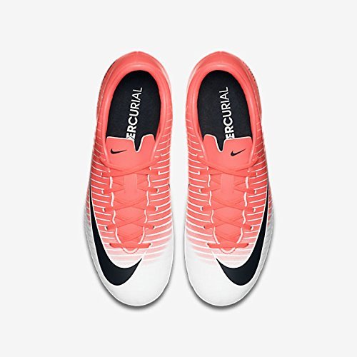 Nike Jr Mercurial Vortex Iii (V) Fg, Chaussures de Football Entrainement garçon RACER PINK/BLACK-WHITE