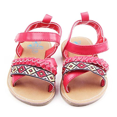 pour 0-18 mois Bébé, Amlaiworld Mignon bébé anti-dérapant chaussures sandales Rouge