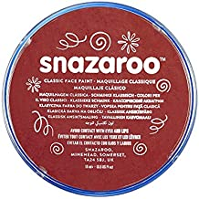 Snazaroo - Pintura facial y corporal, 18 ml, color burdeos