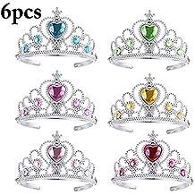Joyibay 6 Piezas Chicas Tiara Juguete Decoración de Diamantes de Imitación Vestirse Princesa Corona para la