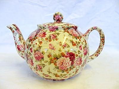 Fraise rose chintz Théière 6 tasses en céramique Motif Un héron croix.