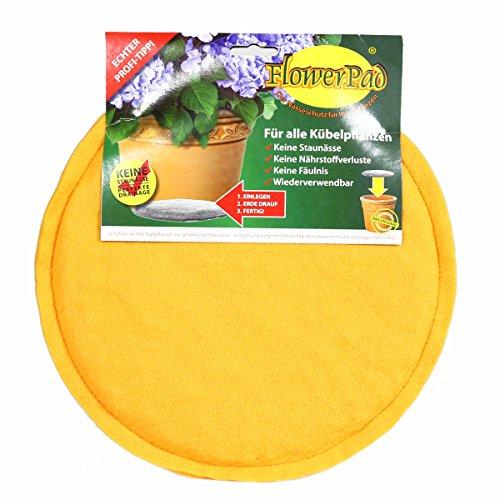 FlowerPad Original 25 cm Profi Drainage für Pflanztöpfe + Übertöpfe – Staunässe-Schutz – Made in Germany