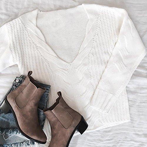 Transer - Pull - Femme bleu bleu S Blanc