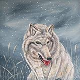 Acrylgemälde WINTER WOLF