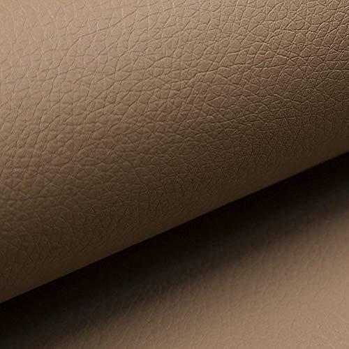 NOVELY® Soltau weiches Kunstleder PU Premium Qualität Polsterstoff mehr als 100.000 Touren Echtleder-Optik (34 Dunkelbeige) Leder Haut