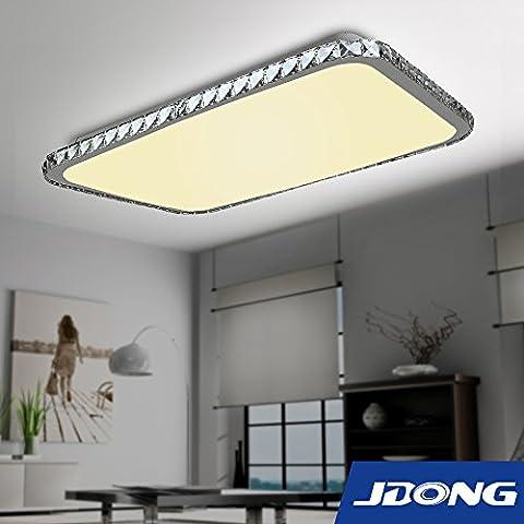 jdong moderna rettangolo cristallo PLAFONIERA LED 36W diamante strass soggiorno