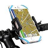 Porta telefono bicicletta,Ubegood Universale Bicicletta Supporto del Telefono per Smartphone, GPS e altri Dispositivi Elettronici [Regolabile a 360 gradi] [Cinturino in Gomma]
