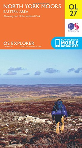 OS Explorer OL27 North York Moors - Eastern area (OS Explorer Map)