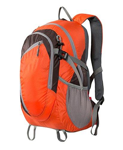 Xin Su Ultra-resistente Leggero Zaino Da Viaggio Escursioni Borse Da Giorno Ultra Leggero Viaggi All'aperto Campeggio Equitazione Zaino Multifunzionale. Multicolore Orange
