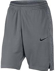 Nike W Nk Pantalón Corto de Baloncesto, Mujer, Gris (Cool Grey / Cool Grey / Wolf Grey / Wolf Grey), L