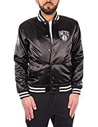 New Era Brooklyn Nets NBA Tip Off Sateen Bomber College Jacket Jacke