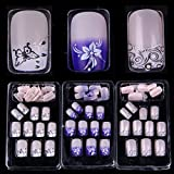 F-NEWEST 72 Mixed Assorted Style French Acrylic False Artificial Nail Tips