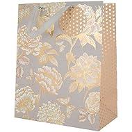 Floral Gift Bag 'Hearts' - Large