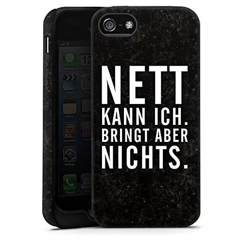 Apple iPhone X Silikon Hülle Case Schutzhülle Nett Leben Humor Tough Case matt