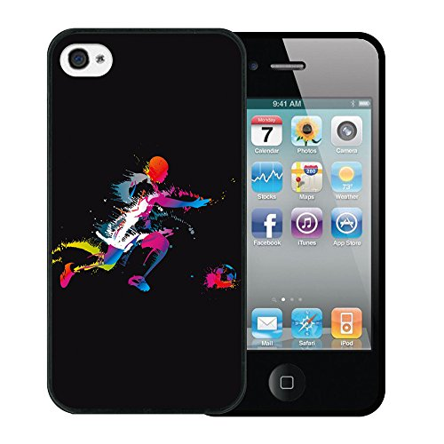 iPhone 4 iPhone 4S Hülle, WoowCase Handyhülle Silikon für [ iPhone 4 iPhone 4S ] Donuts Handytasche Handy Cover Case Schutzhülle Flexible TPU - Rosa Housse Gel iPhone 4 iPhone 4S Schwarze D0006